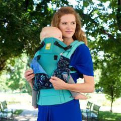 LÍLLÉbaby Complete All Seasons Blue Lagoon Baby Carrier - Naked Baby Eco Boutique - New Zealand Eco Friendly Organic Baby Products - 1