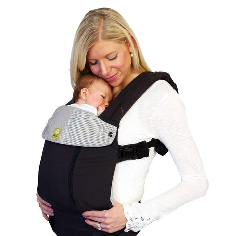LÍLLÉbaby Complete All Seasons Charcoal Silver Baby Carrier - Naked Baby Eco Boutique - New Zealand Eco Friendly Organic Baby Products - 2