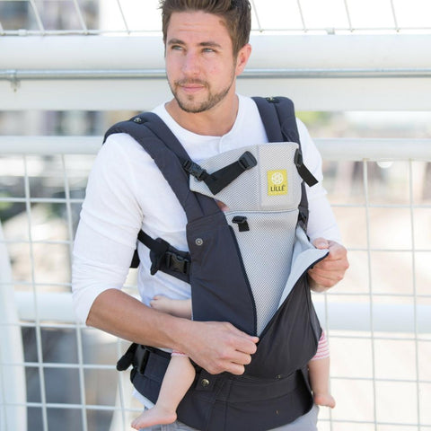 LÍLLÉbaby Complete All Seasons Charcoal Silver Baby Carrier - Naked Baby Eco Boutique - New Zealand Eco Friendly Organic Baby Products - 3