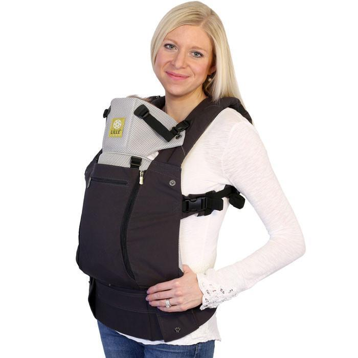 LÍLLÉbaby Complete All Seasons Charcoal Silver Baby Carrier - Naked Baby Eco Boutique - New Zealand Eco Friendly Organic Baby Products - 1