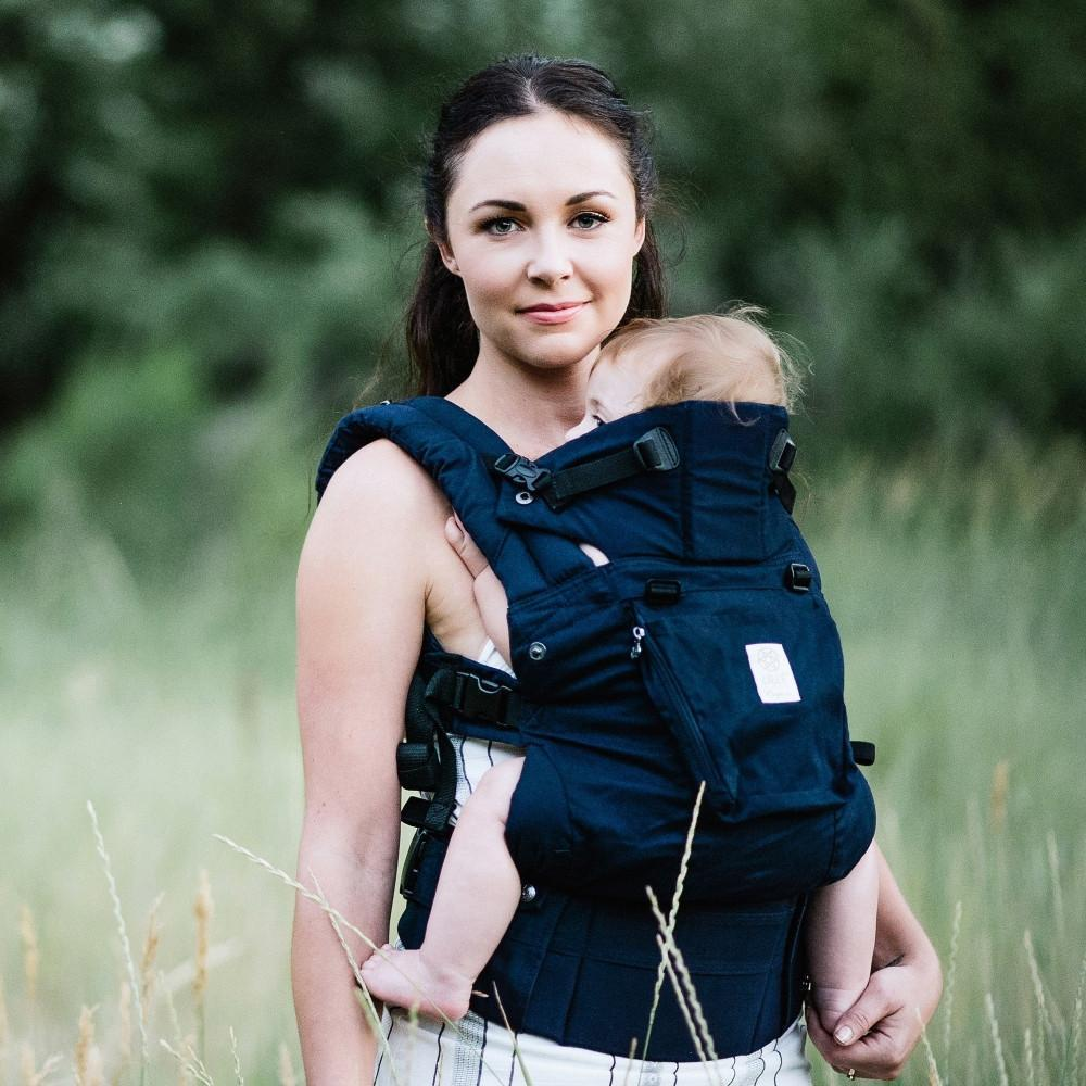 LÍLLÉbaby Complete Organic Midnight Blue Baby Carrier - Naked Baby Eco Boutique - New Zealand Eco Friendly Organic Baby Products