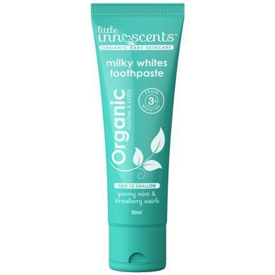 Little Innoscents Milky Whites Organic Toothpaste - Naked Baby Eco Boutique
