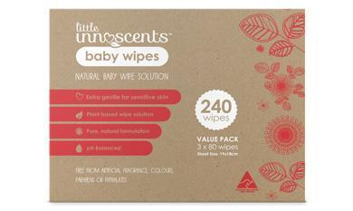 Little Innoscents Organic Baby Wipes - Bulk 3-Pack