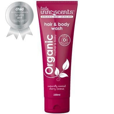 Little Innoscents Organic Cherry Coconut Hair & Body Wash - Naked Baby Eco Boutique