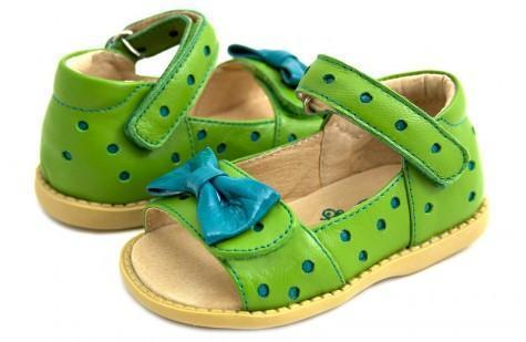 US Size 7 (15 cm) Livie & Luca Lime Minnie Toddler Sandal - Naked Baby Eco Boutique