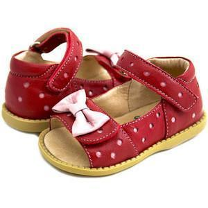 Livie & Luca Red Minnie Toddler Sandal - Naked Baby Eco Boutique - New Zealand Eco Friendly Organic Baby Products - 1