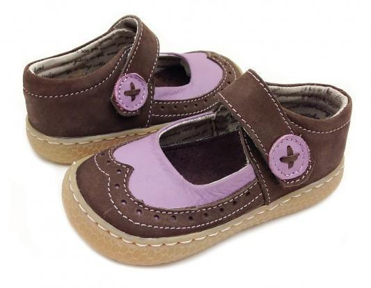 US Size 11 (18 cm) Livie & Luca Tootles Mocha Mary Jane - Naked Baby Eco Boutique