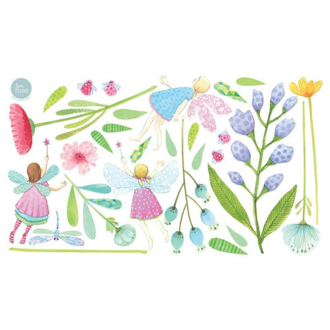 Love Mae Fairy Garden Fabric Wall Decals - Naked Baby Eco Boutique - New Zealand Eco Friendly Organic Baby Products - 2