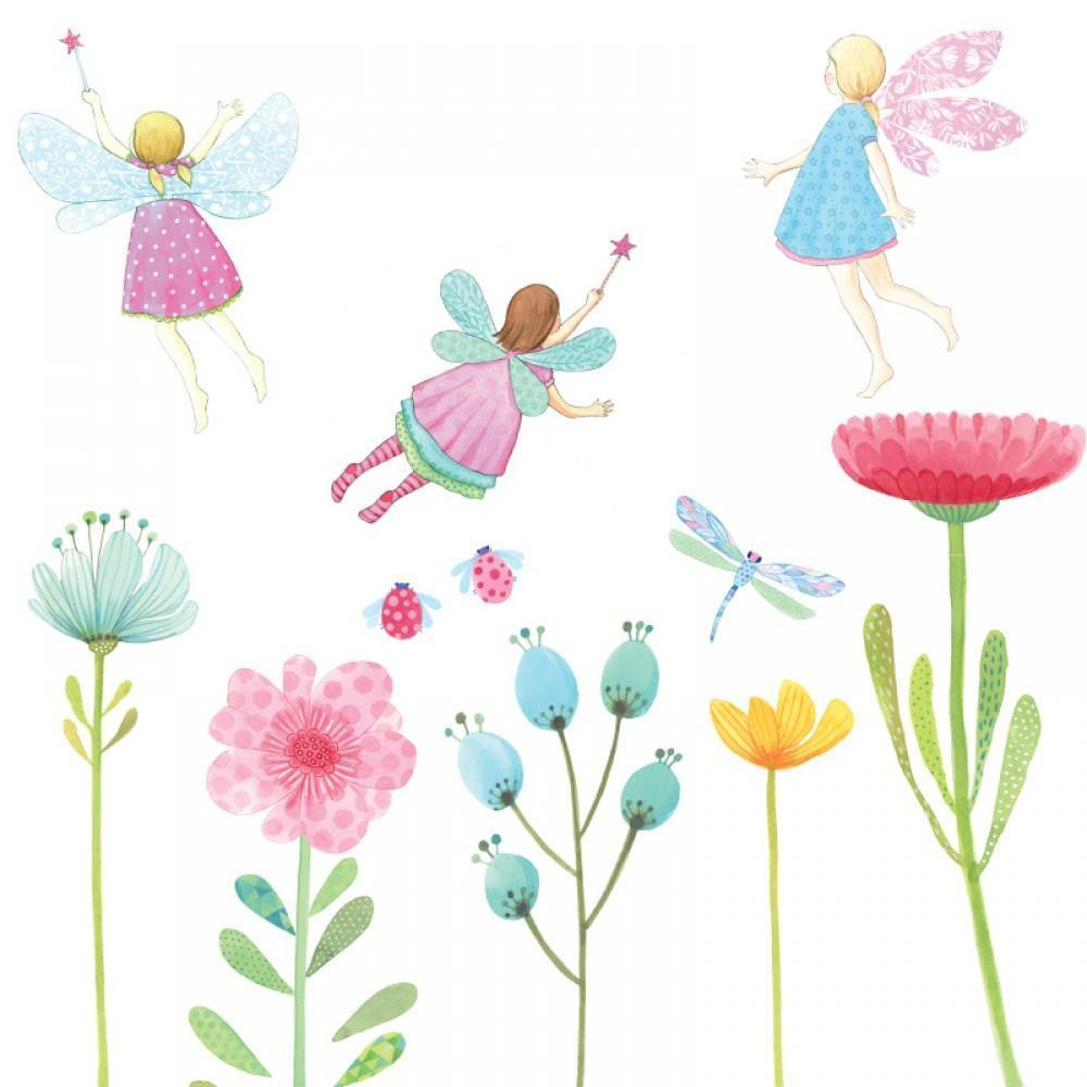 Love Mae Fairy Garden Fabric Wall Decals - Naked Baby Eco Boutique