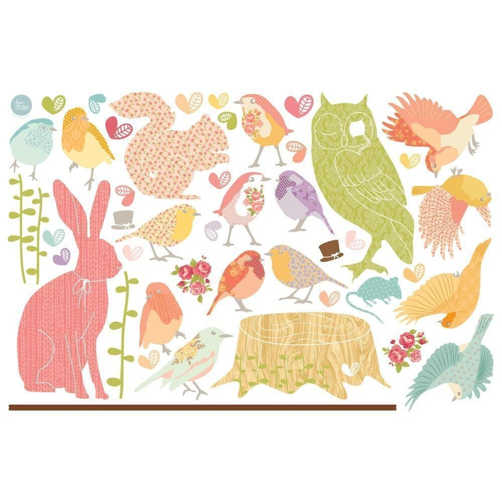 Love Mae Forest Critters Reusable Wall Decals - Naked Baby Eco Boutique