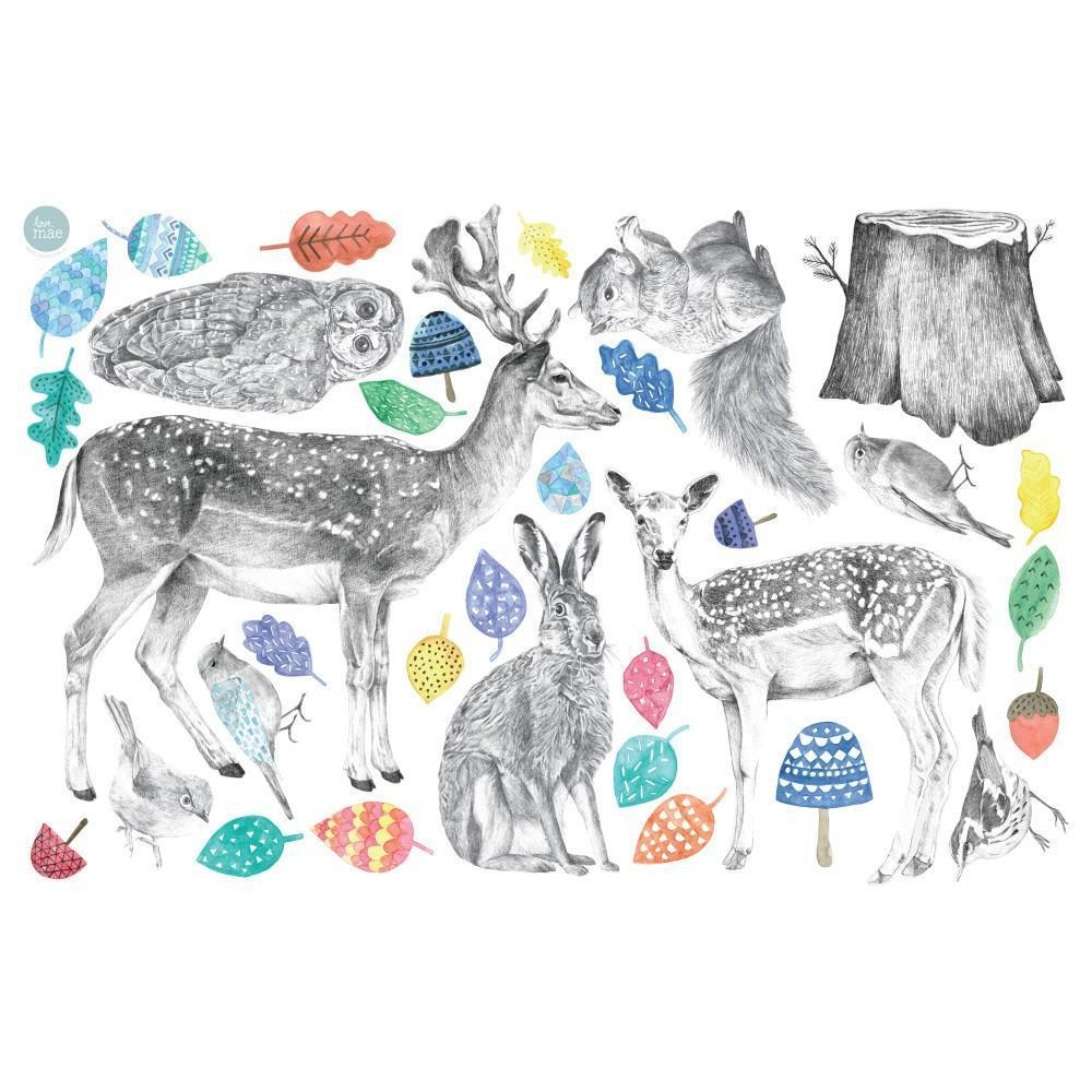 Love Mae Forest Folk Fabric Wall Decals - Naked Baby Eco Boutique