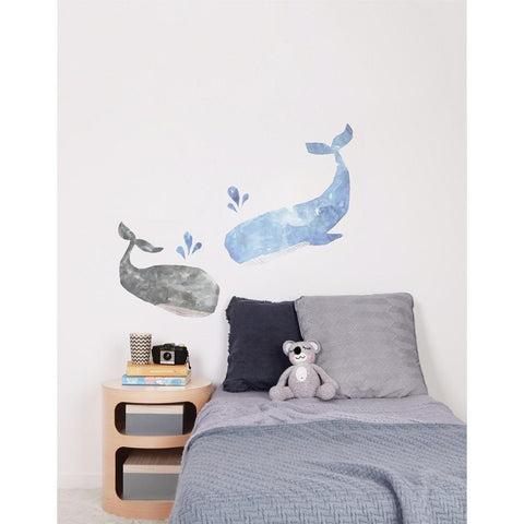 Love Mae Whales Fabric Wall Decals - Naked Baby Eco Boutique - New Zealand Eco Friendly Organic Baby Products - 3