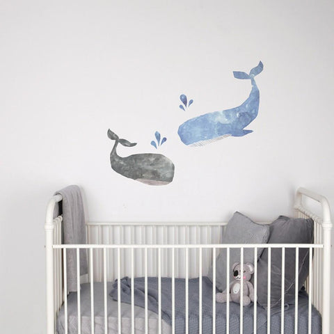Love Mae Whales Fabric Wall Decals - Naked Baby Eco Boutique - New Zealand Eco Friendly Organic Baby Products - 4