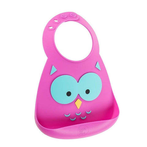 Owl Make My Day Silicone Baby Bibs (Multiple Designs) - Naked Baby Eco Boutique