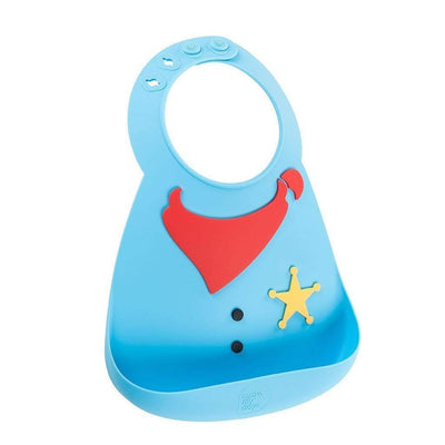 Sheriff Make My Day Silicone Baby Bibs (Multiple Designs) - Naked Baby Eco Boutique