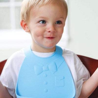 Bowtie Make My Day Silicone Baby Bibs (Multiple Designs) - Naked Baby Eco Boutique