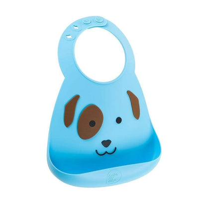 Dog Make My Day Silicone Baby Bibs (Multiple Designs) - Naked Baby Eco Boutique