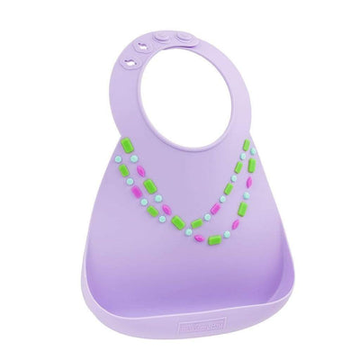 Jewels Make My Day Silicone Baby Bibs (Multiple Designs) - Naked Baby Eco Boutique
