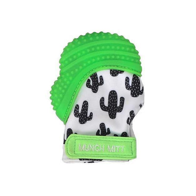 Green Cactus Malarkey Munch Mitt Baby Teether - Naked Baby Eco Boutique