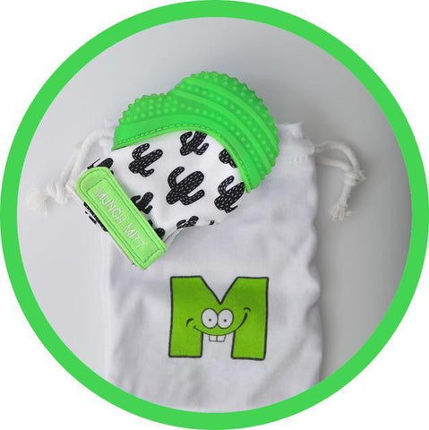 Blue Malarkey Munch Mitt Baby Teether - Naked Baby Eco Boutique