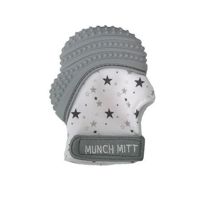 Grey Stars Malarkey Munch Mitt Baby Teether - Naked Baby Eco Boutique