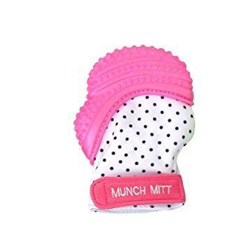 Pink Malarkey Munch Mitt Baby Teether - Naked Baby Eco Boutique