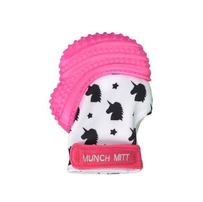 Pink Unicorns Malarkey Munch Mitt Baby Teether - Naked Baby Eco Boutique