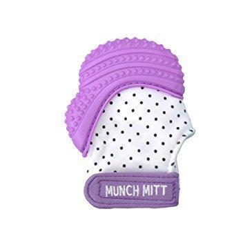 Purple Malarkey Munch Mitt Baby Teether - Naked Baby Eco Boutique