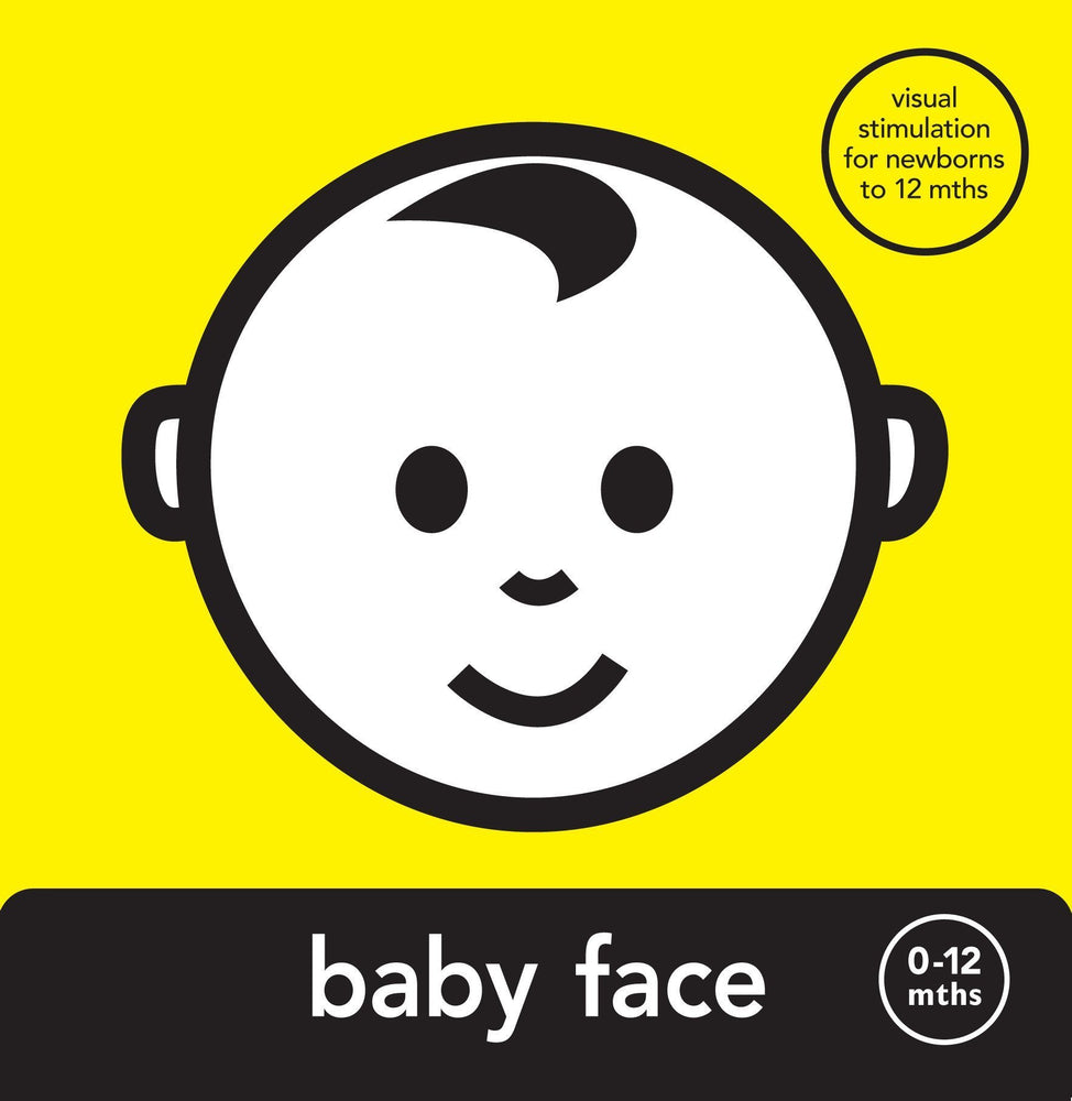 Mesmerised Baby Face Board Book - Naked Baby Eco Boutique - New Zealand Eco Friendly Organic Baby Products - 1