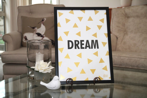 Mimosa Designs A3 Gold Dream Print - Naked Baby Eco Boutique