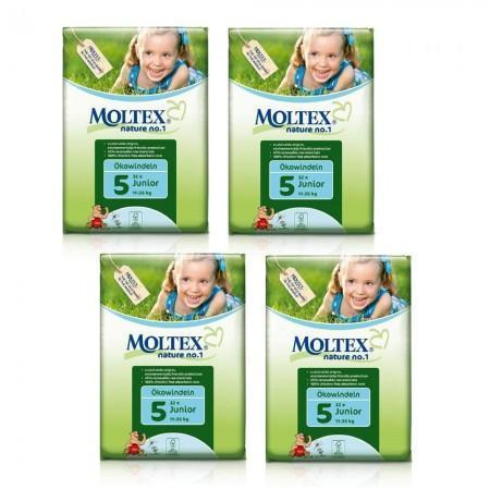 Moltex Junior Nappies - Size 5 (11-25 kg) - Bulk 6-Pack (192 Nappies) - Naked Baby Eco Boutique