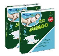 Moltex Junior Nappies - Size 5 (11-25 kg) - Jumbo 2-Pack (136 Nappies) - Naked Baby Eco Boutique - New Zealand Eco Friendly Organic Baby Products - 1