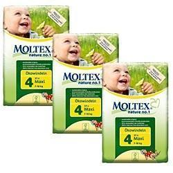Moltex Maxi Nappies - Size 4 (7-18 kg) - Bulk 3-Pack (90 Nappies) - Naked Baby Eco Boutique