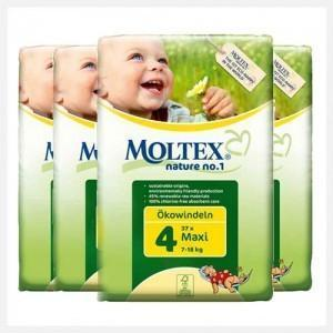 Moltex Maxi Nappies - Size 4 (7-18 kg) - Bulk 6-Pack (222 Nappies) - Naked Baby Eco Boutique - New Zealand Eco Friendly Organic Baby Products - 1