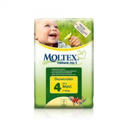 Moltex Maxi Nappies - Size 4 (7-18 kg) - Single Pack (37 Nappies) - Naked Baby Eco Boutique - New Zealand Eco Friendly Organic Baby Products - 1