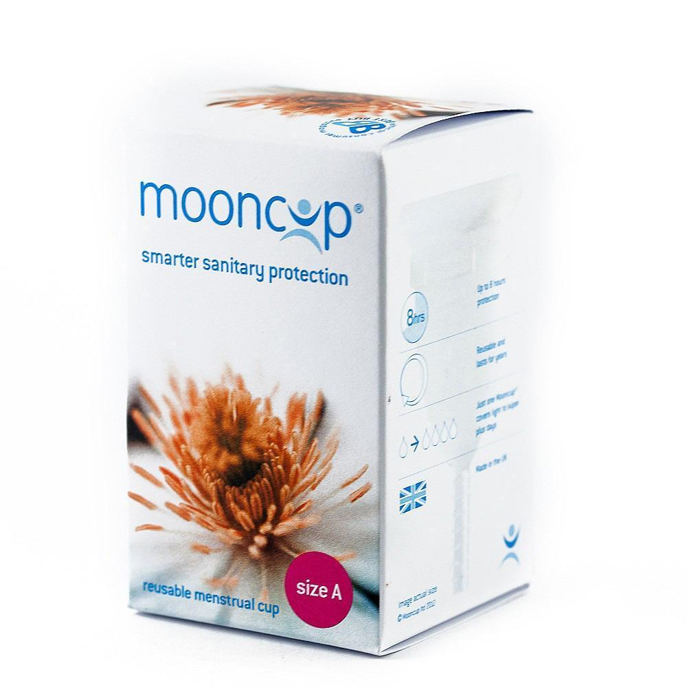 Size A (30+ OR vaginal birth) Mooncup Reusable Menstrual Cup (Multiple Sizes) - Naked Baby Eco Boutique
