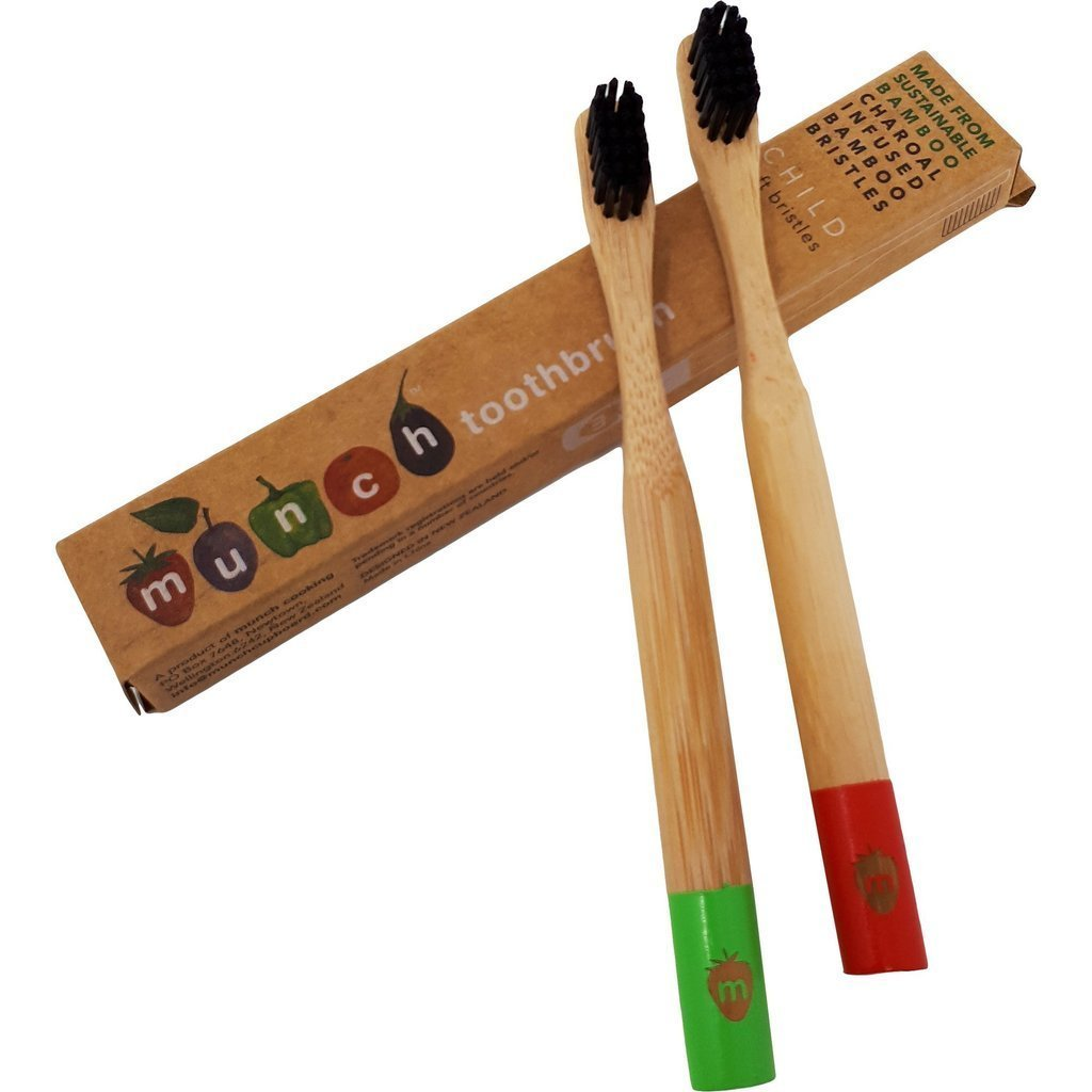 Green Munch Bamboo Toothbrush for Kids - Naked Baby Eco Boutique