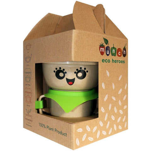 Munch Eco Hero Dinner Set - Naked Baby Eco Boutique - New Zealand Eco Friendly Organic Baby Products - 2