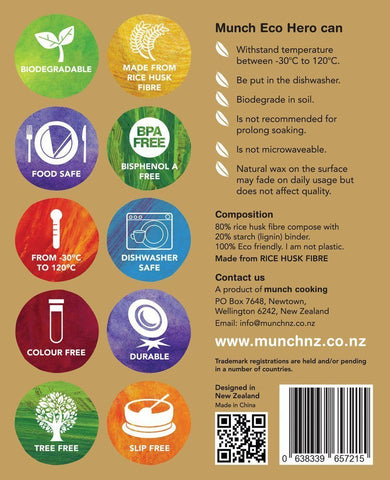 Munch Eco Hero Dinner Set - Naked Baby Eco Boutique - New Zealand Eco Friendly Organic Baby Products - 5