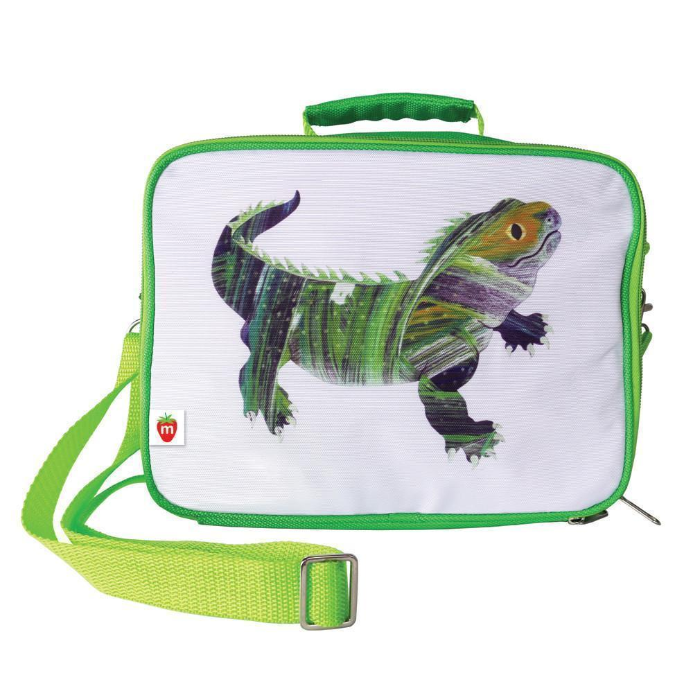 Munch Eco Lunch Box in Green Lizard Print