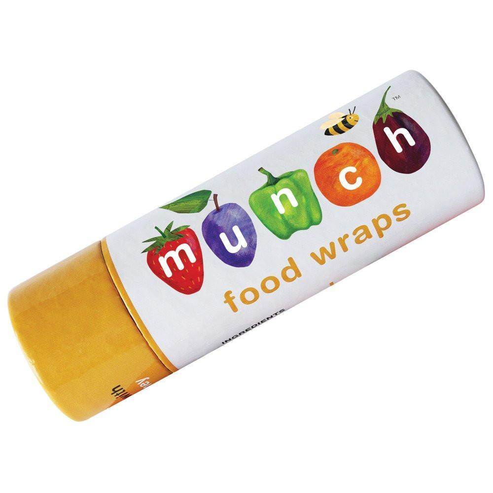Munch Food Wraps - Medium Twin Pack - Naked Baby Eco Boutique - New Zealand Eco Friendly Organic Baby Products - 1