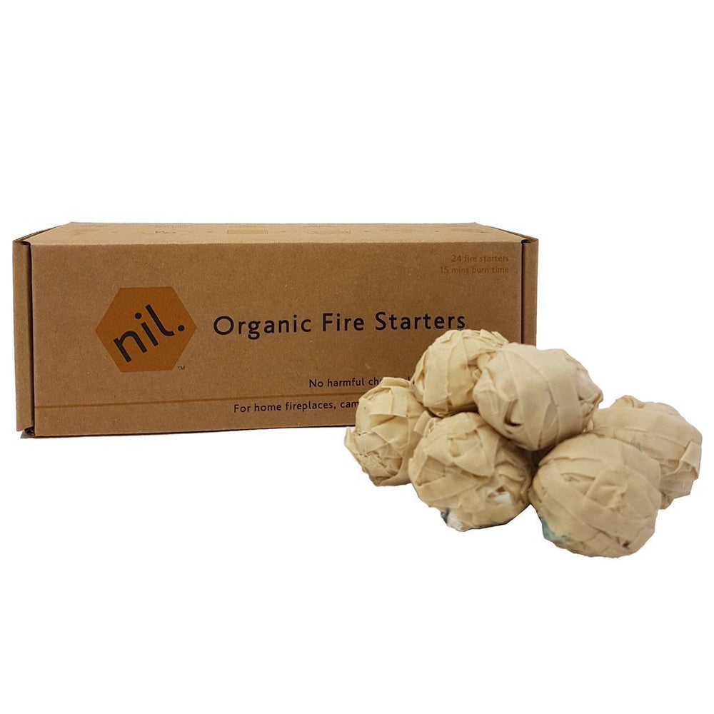Munch Non-Toxic Organic Firestarters pictured with eco-friendly box