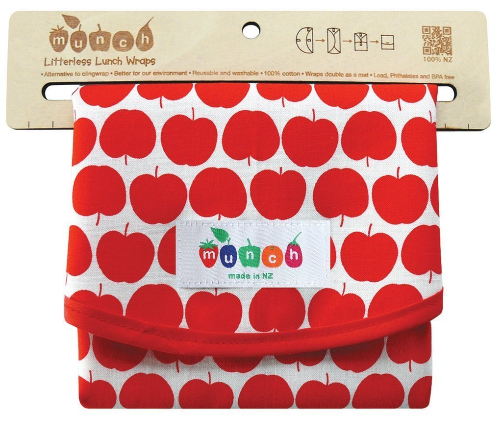 Apple Munch Reusable Lunch Wrap - Naked Baby Eco Boutique