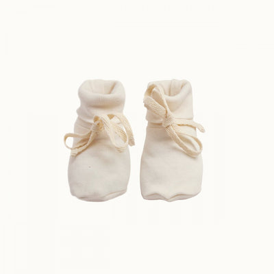 Natural / 0-3 Months Nature Baby Organic Cotton Baby Booties (Multiple Variants) - Naked Baby Eco Boutique