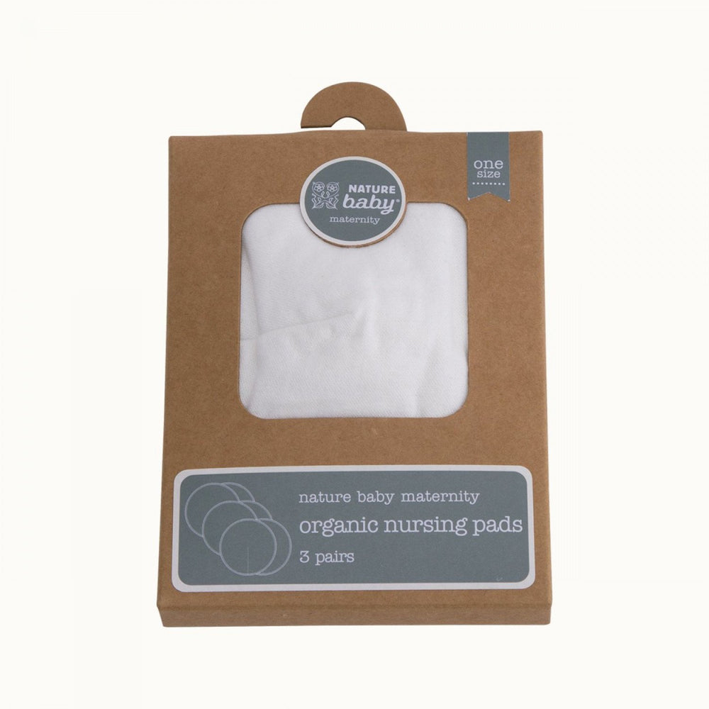 Front view of the Nature Baby Organic Cotton & Bamboo Nursing Pads