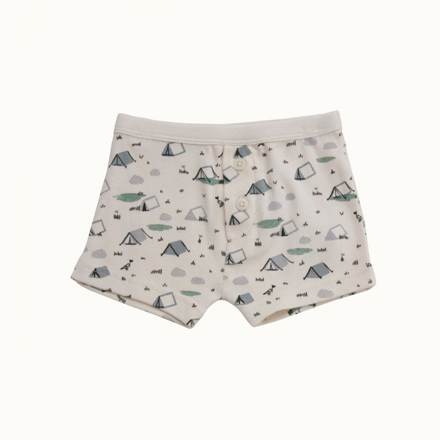 Little Festival / 2 Years Nature Baby Organic Cotton Boys Boxer Shorts - Naked Baby Eco Boutique