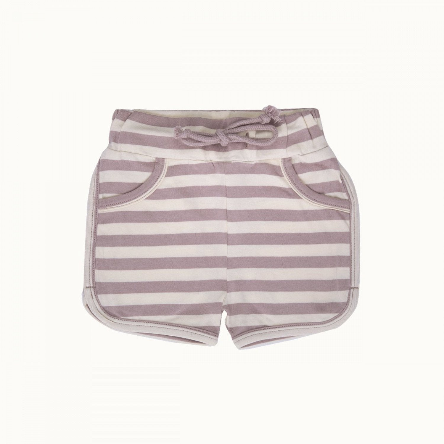 Lilac Sea Stripe / 1 Year Nature Baby Organic Cotton Jenny Shorts (Multiple Variants) - Naked Baby Eco Boutique