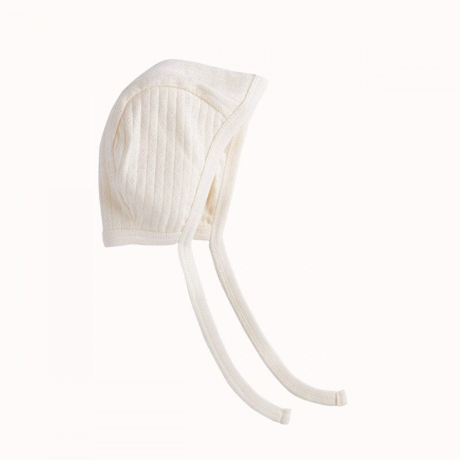 Nature Baby Organic Cotton Pointelle Baby Bonnet - Naked Baby Eco Boutique