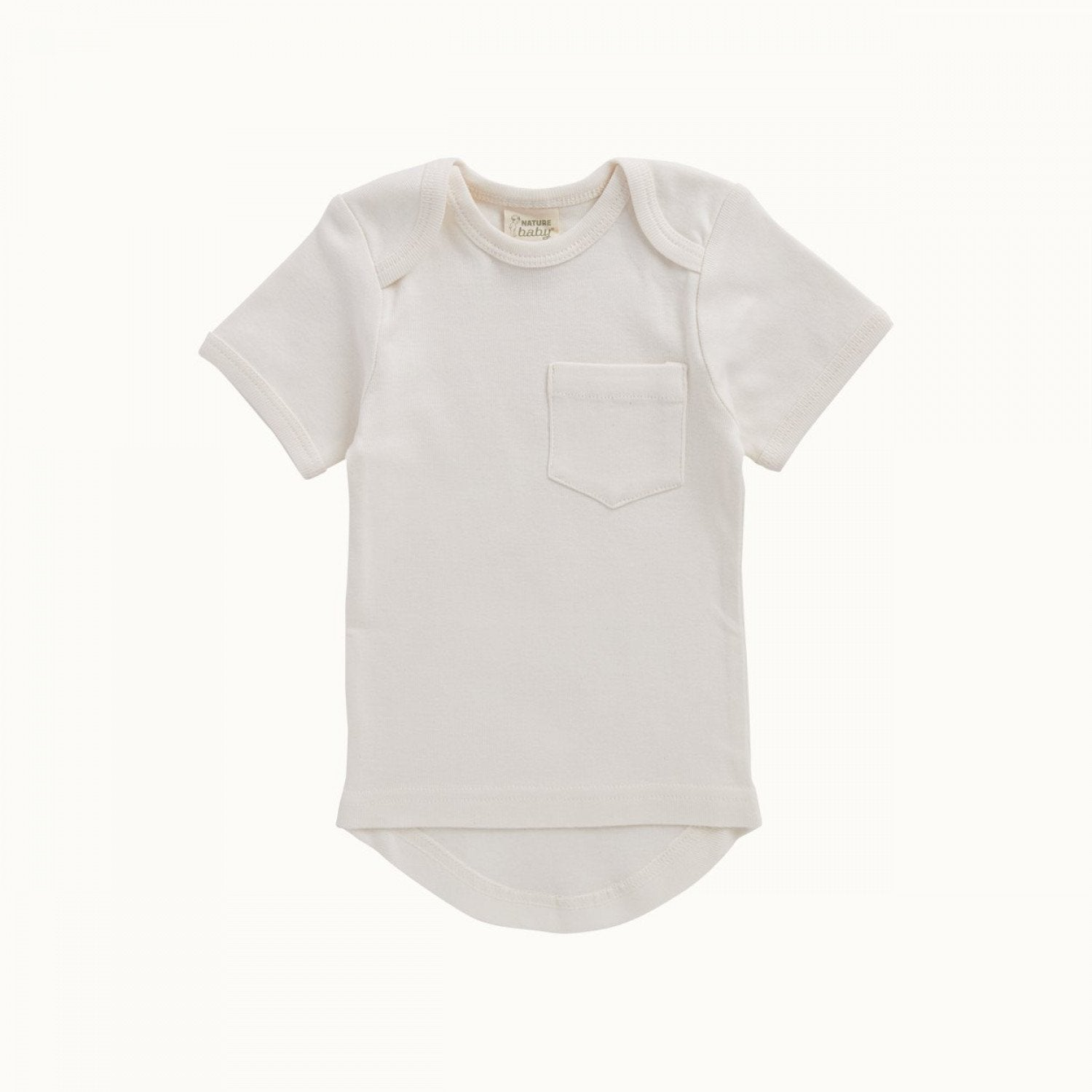 0-3 Months Nature Baby Organic Cotton Short Sleeve T-Shirt - Naked Baby Eco Boutique
