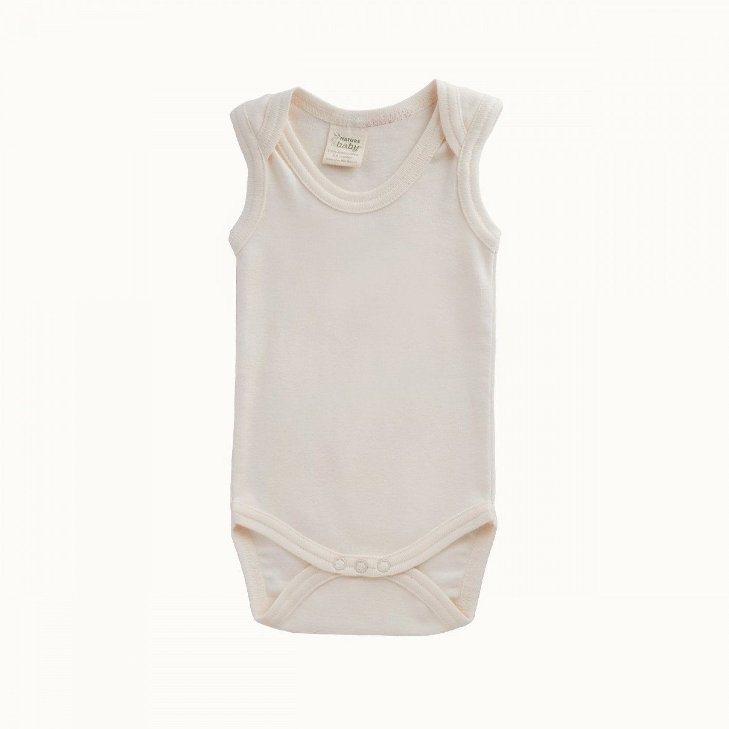 Natural / 0-3 Months Nature Baby Organic Cotton Singlet Onesie (Multiple Variants) - Naked Baby Eco Boutique